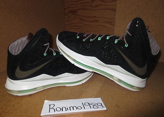 "43ffbb0d0dbe01 Nike LeBron X EXT ""Black Suede"" Black Black-Dark Field Brown-Tourmaline  607078-001 06 10 13"