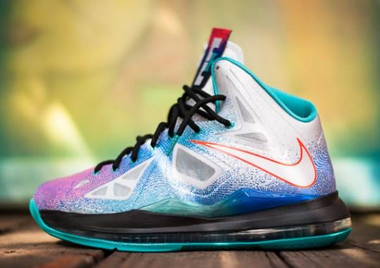 "d6e6e3e69b4 Nike LeBron X ""Pure Platinum"" – Release Reminder"