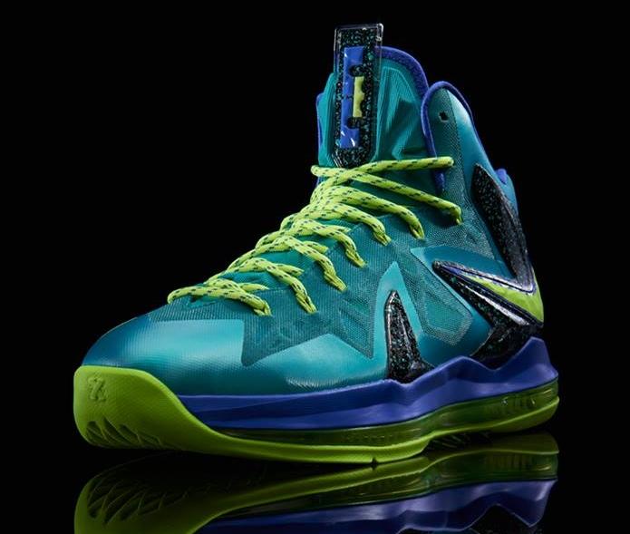 best loved cc2fb 3807e Nike LeBron X Elite Sport Turquoise Volt-Violet Force 579827-300 05 25 13