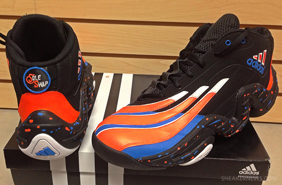 "9128fbef62e8 Packer Shoes x Sole Swap adidas Real Deal ""Knicks"" Custom for Iman Shumpert"
