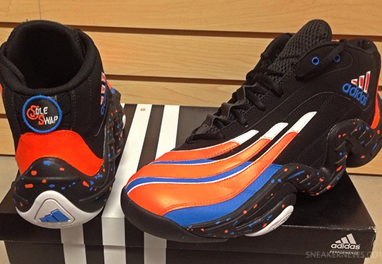 "Packer Shoes x Sole Swap adidas Real Deal ""Knicks"" Custom for Iman Shumpert"
