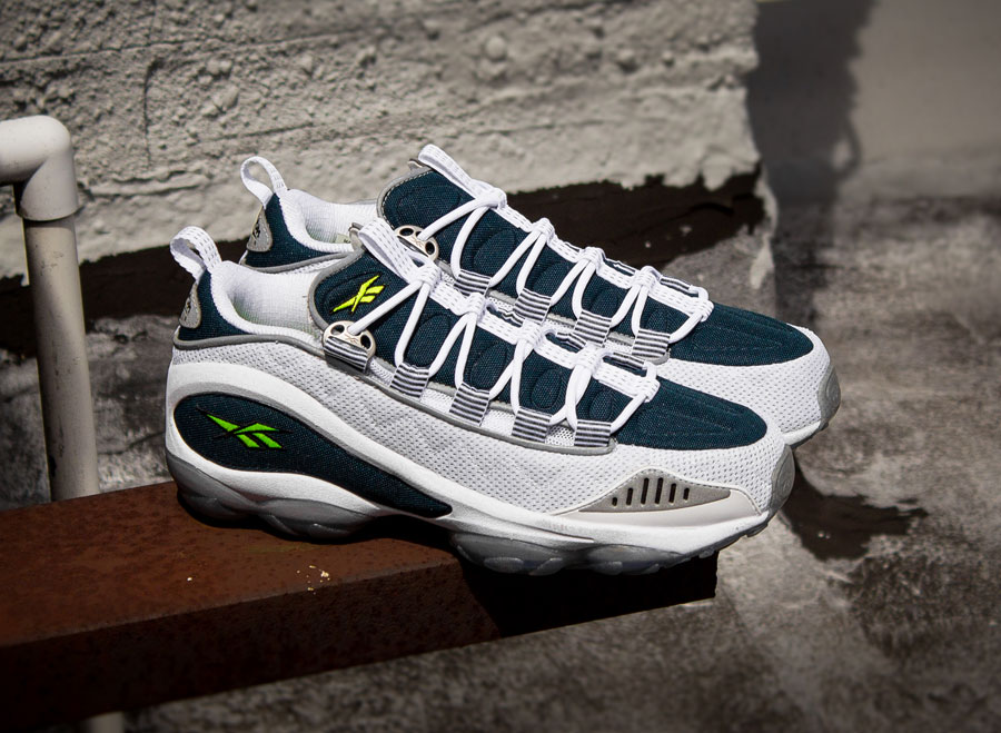 Reebok DMX Run - White - Nocturnal Blue - Neon Yellow  c185c3a31d