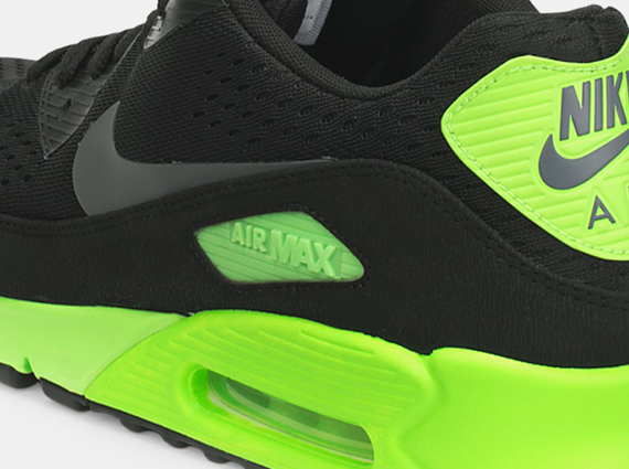info for e1401 d3714 Nike Air Max 90 EM – Black – Flash Lime