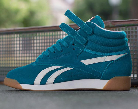 reebok high tops womens. reebok freestyle hi suede \u2013 teal white gum high tops womens