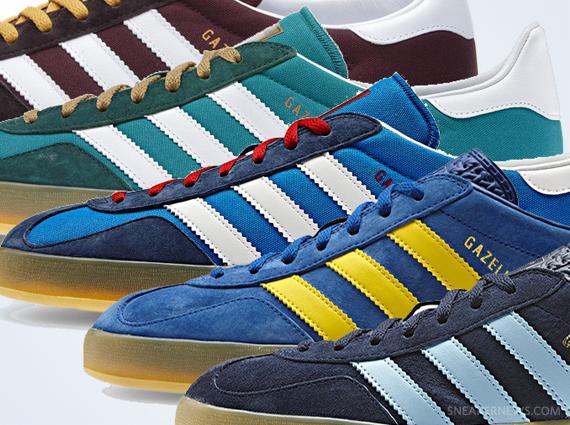 huge discount 32483 f933b adidas Gazelle Indoor - July 2013 Colorways - SneakerNews.co