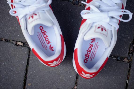 Adidas Superstar 2 Hvit Rød DIsr8LN