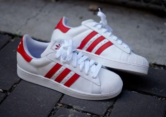 adidas Originals Superstar II – White – Red