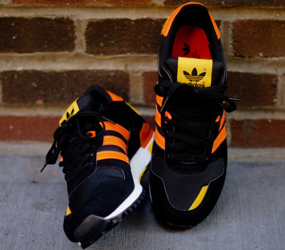 adidas originals zx 700 black orange yellow