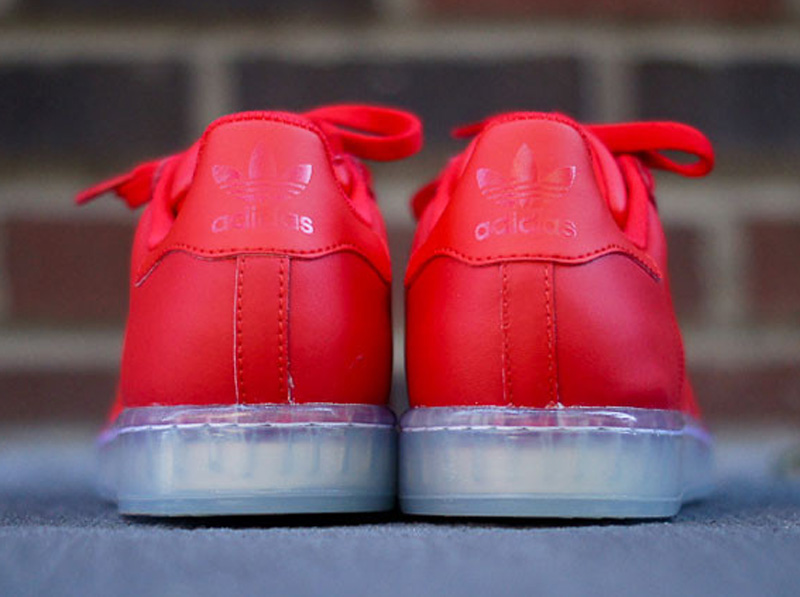 adidas superstar clear vivid red