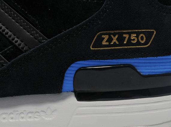 brand new 0186c d3af3 adidas Originals ZX 750 - Black - Blue - White - SneakerNews.com