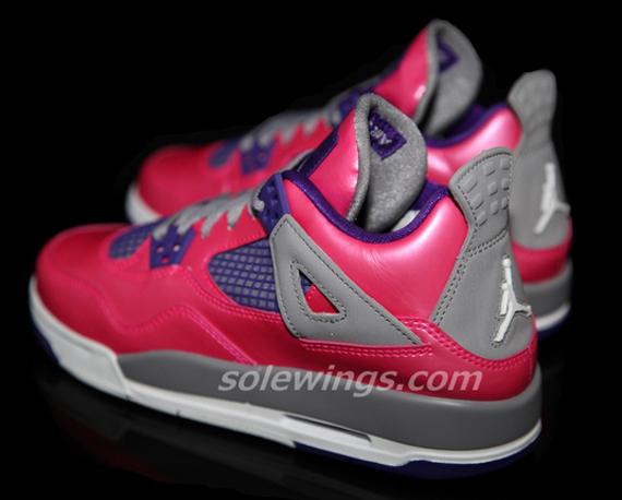air jordan 4 gs pink purple
