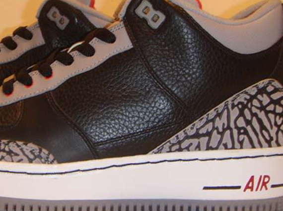 "finest selection 2acfb b0224 Air Jordan III Force Fusion ""Black Cement"" – Unreleased Sample"