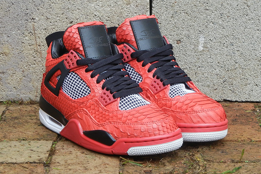 air jordan 4 python fire red