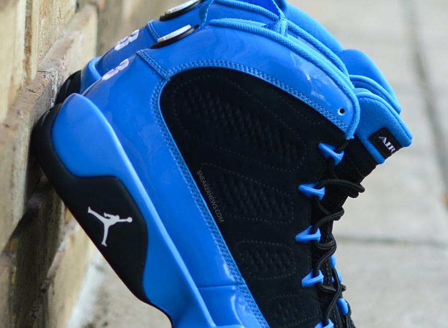 Air Jordan IX - Photo Blue Patent Leather - Black  49b09f8a90