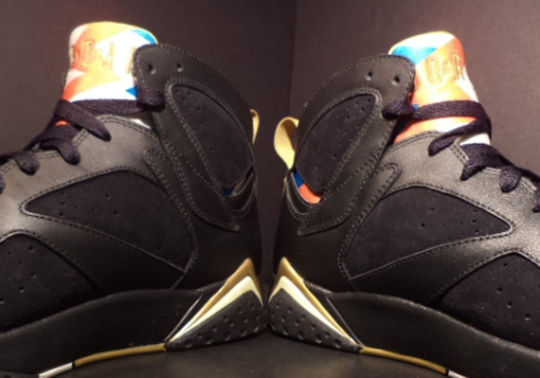 "Air Jordan VII ""Golden Moments"" – Unreleased Olympic Tongue Sample"