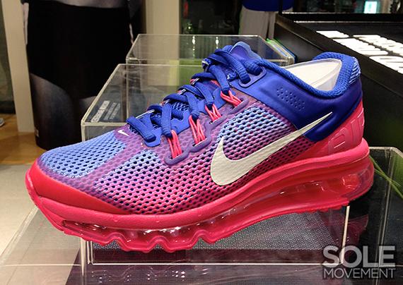 Wmns Nike Air Max 2013 Hyper Blue Pink Volt