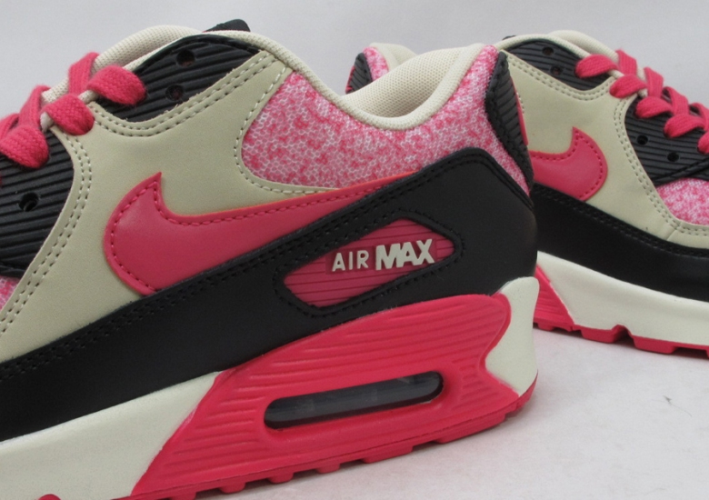 release date: b7ee2 a7000 Nike WMNS Air Max 90 – Sail – Pink Force – Birch – Black