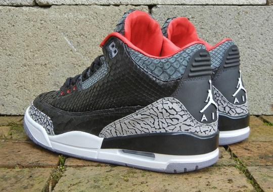 "Air Jordan III ""Black Python"" for Wale by JBF Customs"