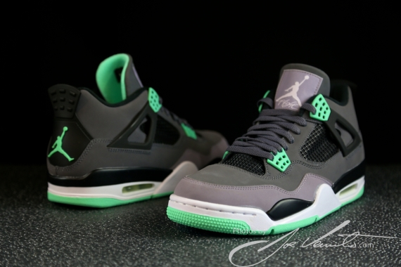 separation shoes ef442 3c8b9 Air Jordan IV Dark Grey Green Glow-Cement Grey-Black 308497-033 08 17 13