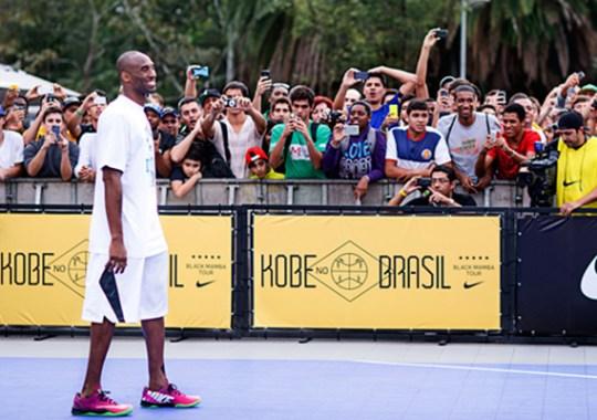 "Kobe Bryant Visits Brazil in ""Black Mamba Tour"""