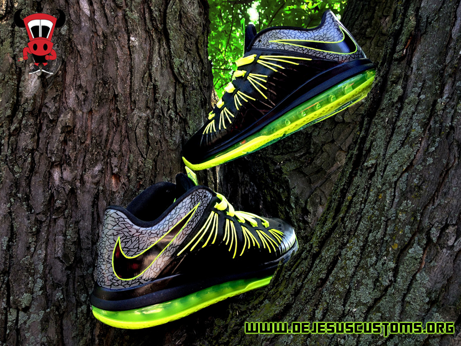 """best service 5c269 8c7fa ... a full gallery for you to see the Nike LeBron X Low """"112"""" in its  entirety below, so take a good look and stay tuned to see more from DeJesus  Customs."""