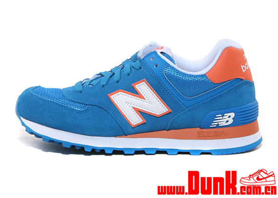 orange and blue new balance 574