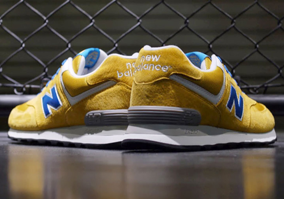 huge discount 61f78 a0833 New Balance 574 - Yellow - Blue - White - SneakerNews.com