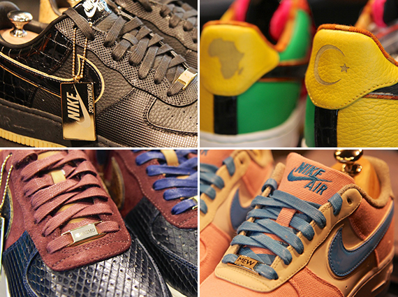 best authentic 3c5b7 7af30 Nike Air Force 1 Bespoke Creations Unveiled at Nike Vault
