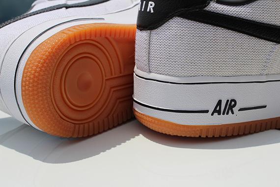 Nike Air Force 1 Faible Toile Noir Blanc zt4BuxrRGK