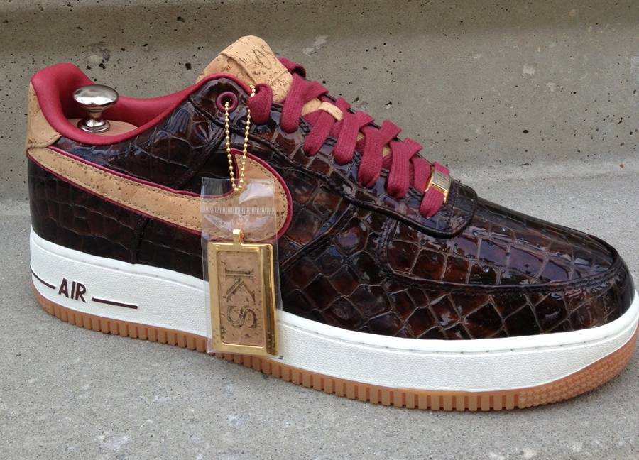 """best service 8ba7c ffd56 Hit the jump for the Nike Air Force 1 Bespoke """"Scotch Malbec ..."""