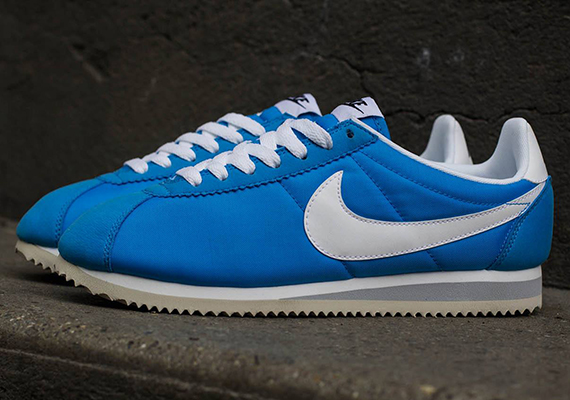 nike cortez nylon blue white