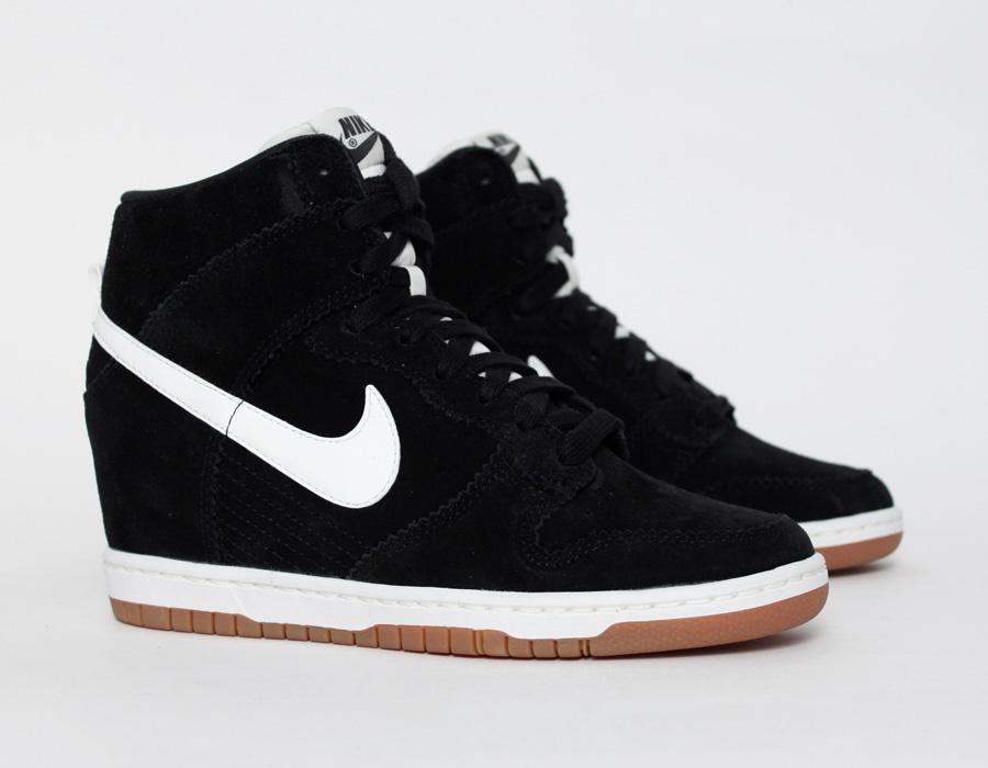 Nike Dunk Sky High Womens Wedge Sneakers White Shoes