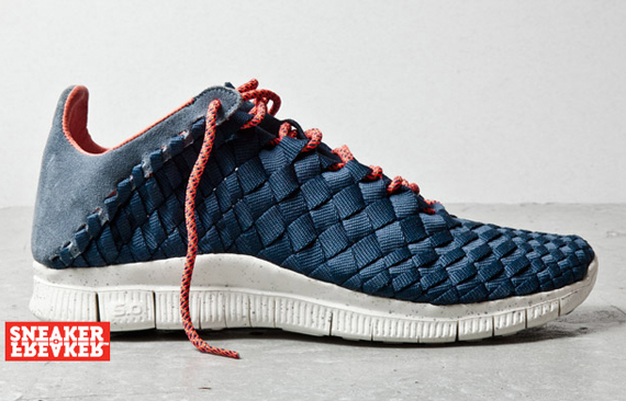 los angeles 8a667 0ee0d Nike Free Inneva Woven - Navy - Red - SneakerNews.com