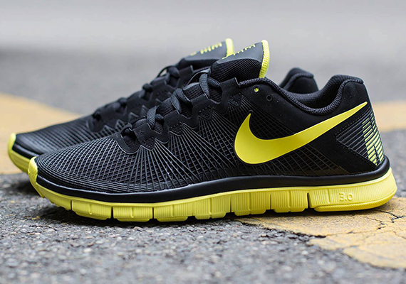 Nike Free 3.0 Trainer Black Yellow Shoes