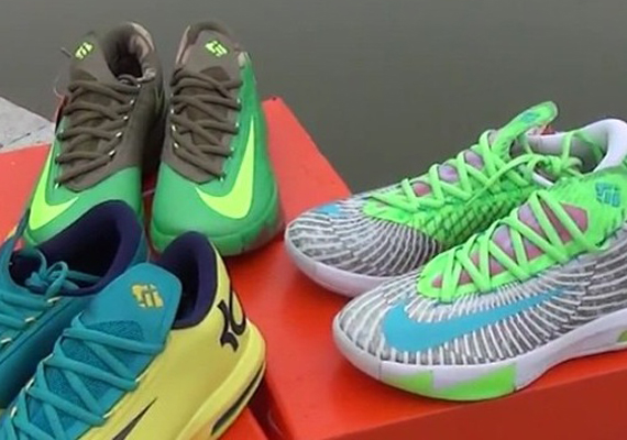 the KD 6 is right around Kd 6 Colorways