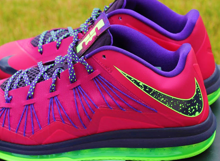 6a23b0b126a5 Nike LeBron 10 Low - Red Plum - Electric Green - SneakerNews.com