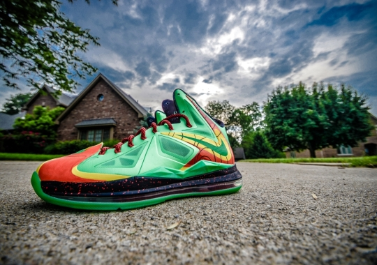 "7ae7bf0f282a0b Nike LeBron X ""Weatherman"" Customs by DMC Kicks"