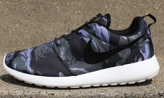 Nike Roshe Exécuter Gpx Camouflage Gris Noir