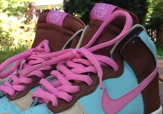 official supplier incredible prices cheap for discount Nike SB Dunk High - Pink - Blue - Brown - Sample ...