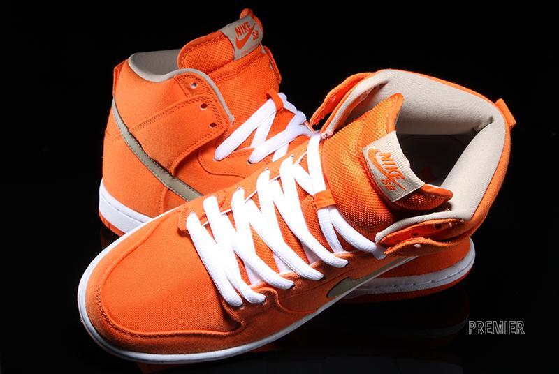 innovative design 99b3a dbb8e Nike SB Dunk High - Urban Orange - White - Bamboo - SneakerNews.com