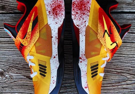 """Nike Zoom KD IV """"Kill Bill"""" Customs by Gourmet Kickz"""