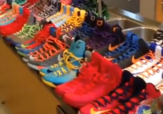 Randy Williams Shows Off His Nike KD V Collection