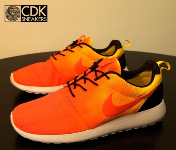 """size 40 92439 72832 Nike Roshe Run """"Sunset"""" Customs by CDK"""