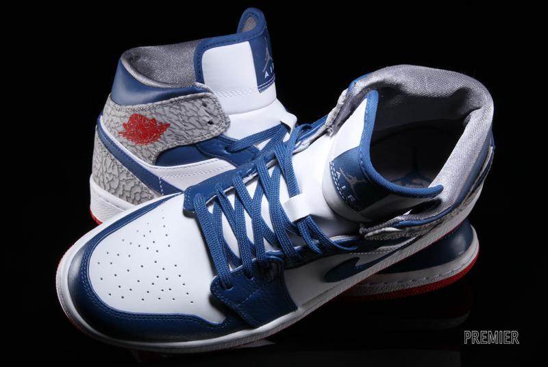Air Jordan 1 Metà Blu E Rosso t3pFw3