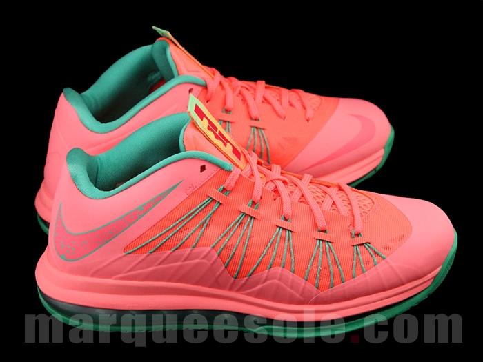 """""""Watermelon"""" Nike LeBron 10 Low - SneakerNews.com"""
