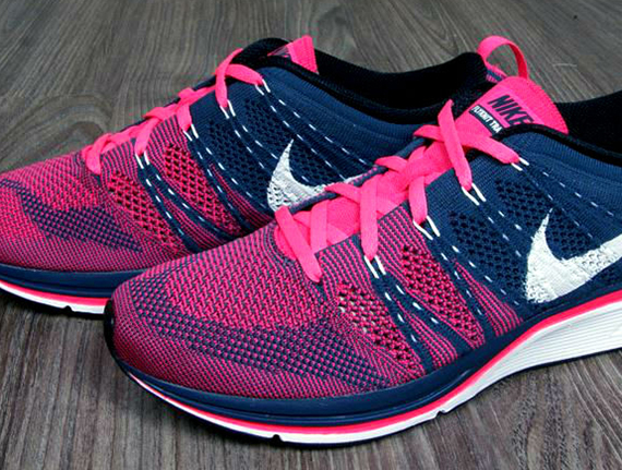 7b632998479a Nike Flyknit Trainer+ - Squadron Blue - Pink Flash - SneakerNews.com