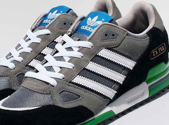 buy online 3bf1a 73c54 adidas Originals ZX 750 – Grey – White – Black – Green