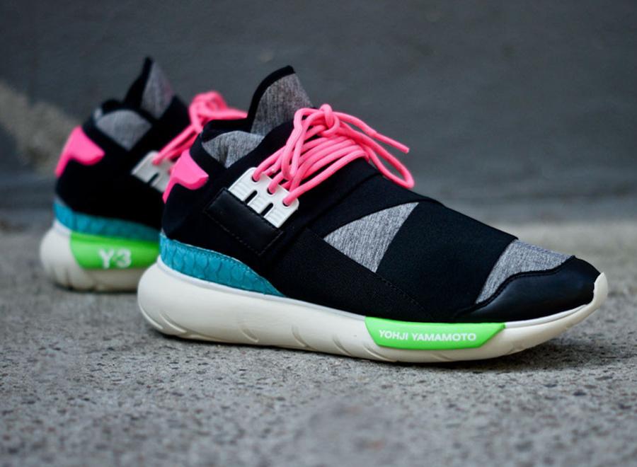 365bc4eb4779 adidas Y-3 Qasa High - Black - Neon - SneakerNews.com