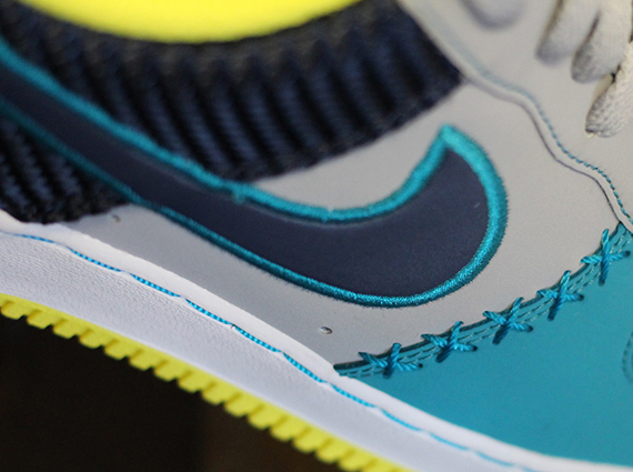 best service accb7 bd408 Nike Air Force 1 Low – Wolf Grey – Midnight Navy – Tropical Teal
