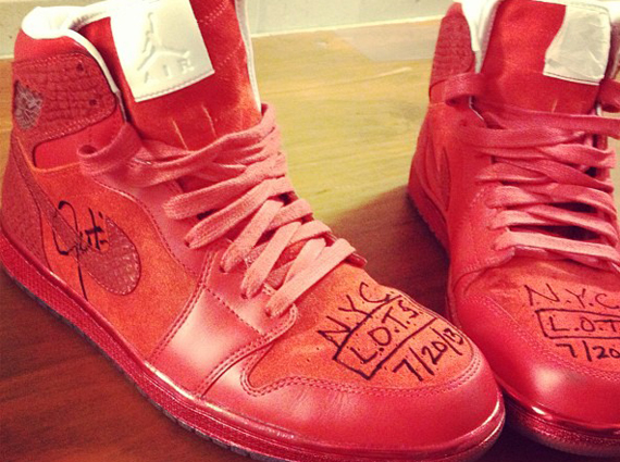 Justin Timberlake has some all-red Air Jordans made for him – and he s  giving them away! fb70097c3